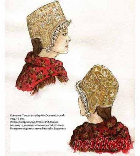 Нашла интересное! Старинные женские шапочки с выкройкой и описанием