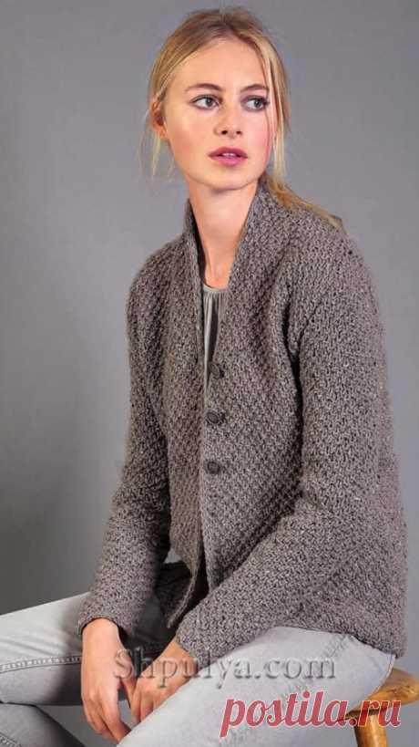 Жакет из твида с жемчужным узором — Shpulya.com - схемы с описанием для вязания спицами и крючком