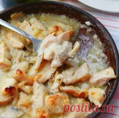 Как приготовить куриная грудка в соусе с грибами - рецепт, ингредиенты и фотографии