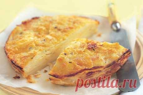 Рецепт слоеного пирога из картофеля с сыром | | О вкусной еде