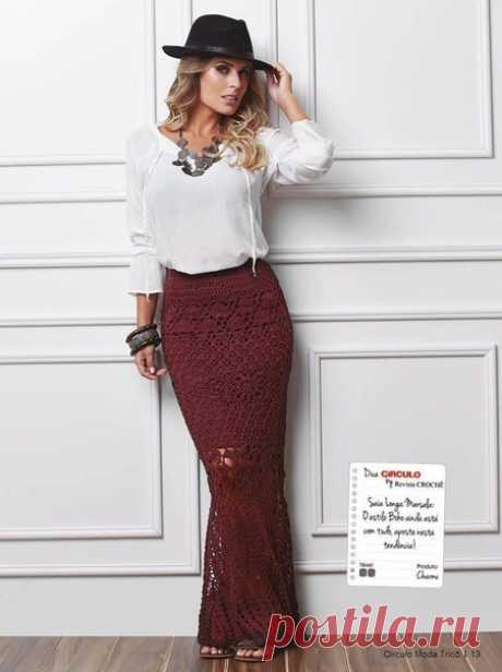Красивая юбка макси