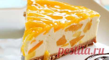 Персиковый торт-суфле без выпечки - СУПЕР ШЕФ