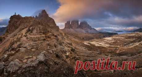 Скалы Тре-Чиме-ди-Лаваредо, Италия. Автор фото — Анатолий Гордиенко: