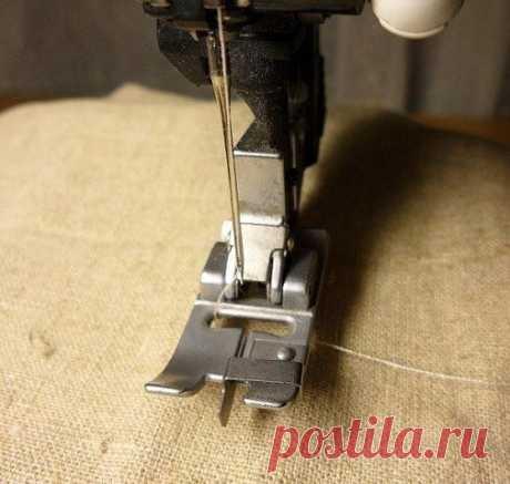 Маленькие секретики: потайной шов на швейной машинке