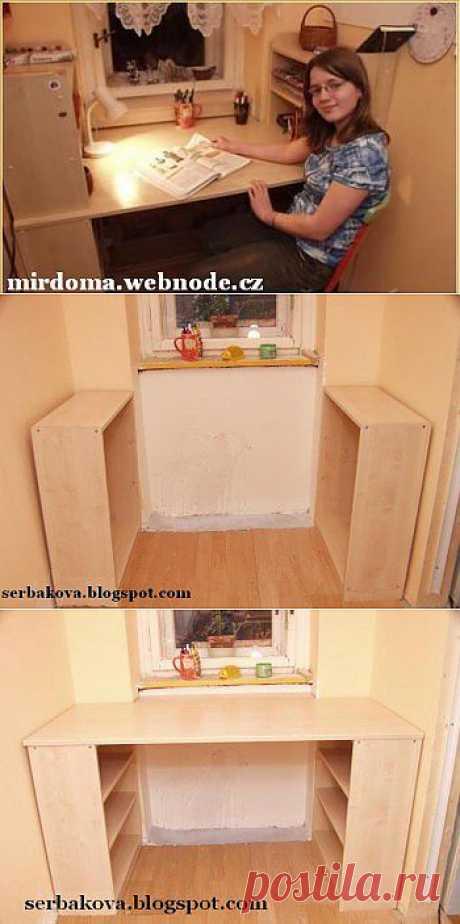 Письменный стол для школьника в маленькой комнате. :: Мир дома.