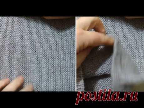 Самый простой способ как вязать спицами ровные петли, ровное полотно лицевой и изнаночной гладью.