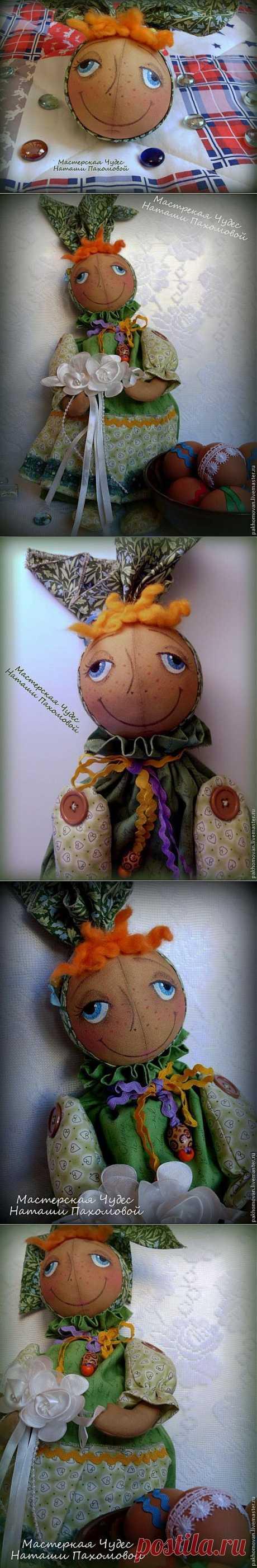Интерьерная кукла тыковка Грушенька-Душенька. Автор Наташа Пахомова   СДЕЛАЙ САМ!