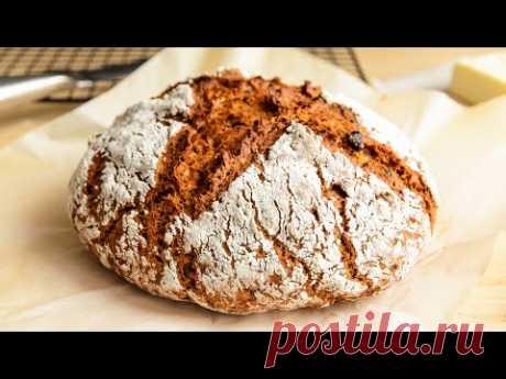 НАСТОЯЩИЙ хлеб БЕЗ ДРОЖЖЕЙ🍴Самый Быстрый и Простой рецепт Хлеба в Духовке!