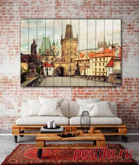 """Картина """"Карлов мост Прага"""" по цене от 5900 руб. Размеры: 60x90 см, 80x120 см, 100x150 см, 120x180 см. Срок изготовления: 2-3 дня."""