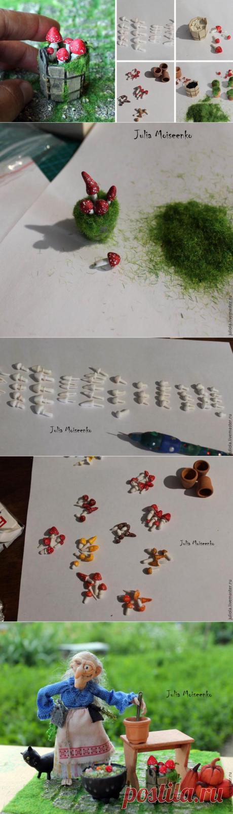 Лепим миниатюрные мухоморчики и другие поганки - Ярмарка Мастеров - ручная работа, handmade