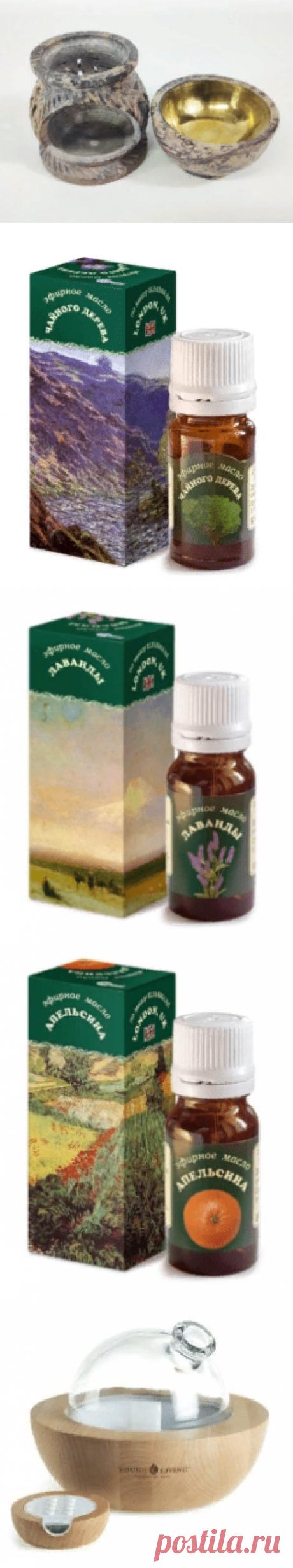 Эфирные масла лаванды, апельсина, чайного дерева. Применение в ванне, массаже и в камине