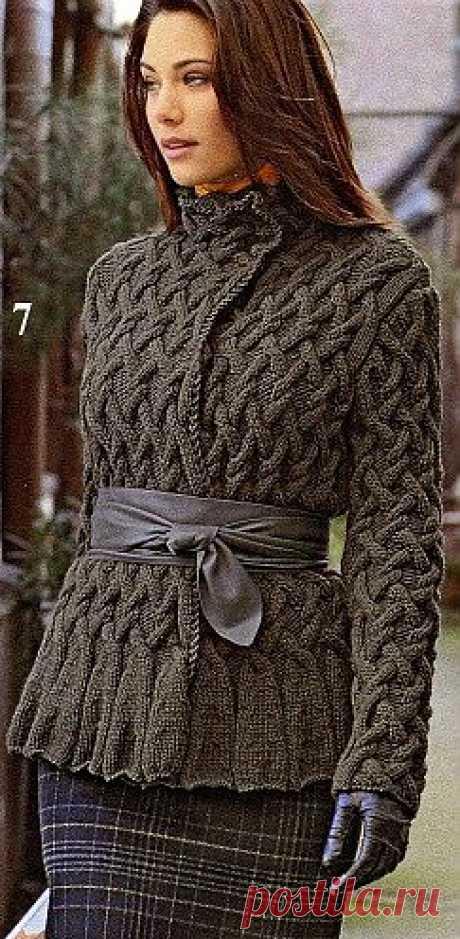 Теплая кофта спицами / Вязание для женщин спицами. Схемы / PassionForum - мастер-классы по рукоделию
