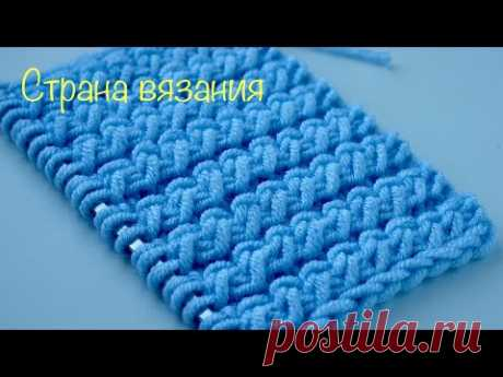 Узоры спицами. Эффектная резинка 2х1. Spectacular elastic 2x1 pattern.
