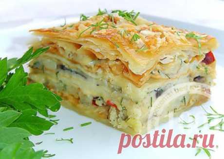Tasty potato and mushroom Napoleon - Gold fund of recipes 1001 food from 1001 FOOD