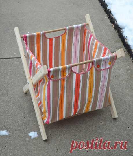 Практичная сумка — коробка для уютного дома — Делаем руками
