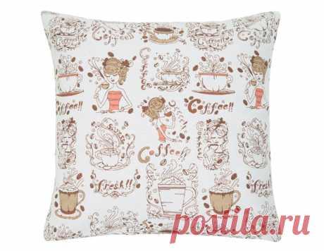 Подушка декоративная «Дольче вита» рогожка наб. - купить в интернет магазине Guten Morgen