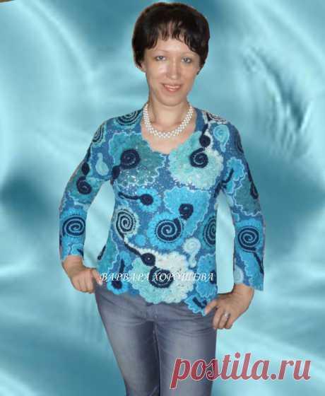 """Пуловер """"Морские волны"""""""