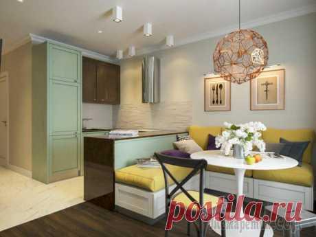 Design of the apartment of 53 sq.m.