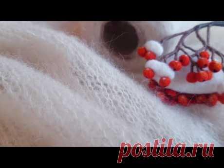 Простейший джемпер-паутинка из бобинной альпаки / Начало процесса #вязание #ручноевязание #альпака