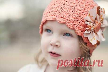 вязаные детские шапочки крючком на лето - Поиск в Google