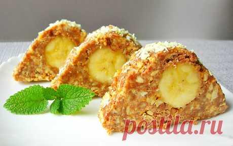 Пирожные из печенья с бананом и арахисом «Карпаты»   Рецепты на SuperKuhen.ru