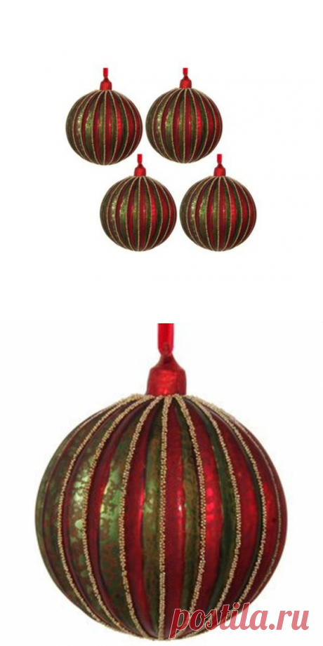 Vintage Elegant Glass Christmas Balls Set Christmas Tree | Etsy