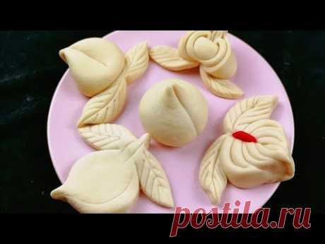 寿桃馒头,5种花样做法,你觉得哪一种更好看