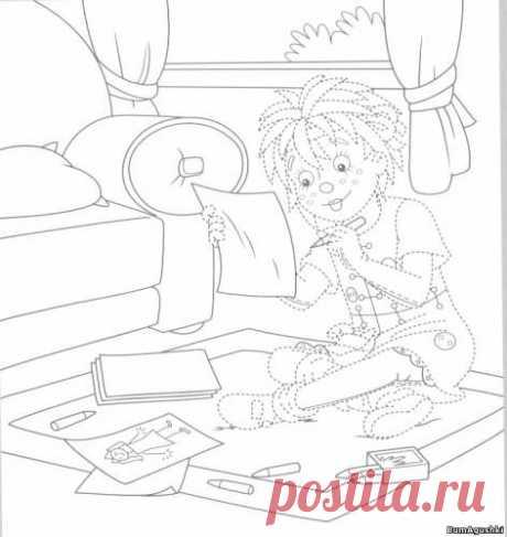 sitio07 - Соединяем по точкам - Дошкольное развитие ребенка - БумАгушки - детские раскраски и многое другое