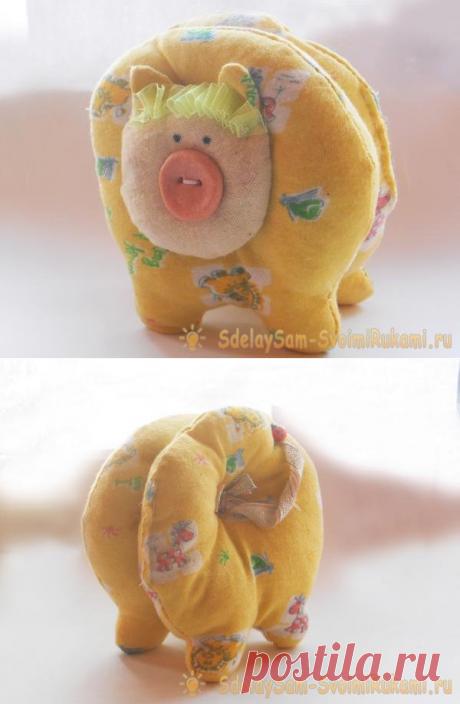 Как создать мягкую игрушку желтой свиньи на Новый Год