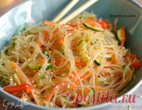 Фунчоза с овощами, пошаговый рецепт на 999 ккал, фото, ингредиенты - @portnova_yulia