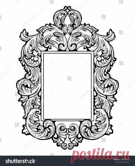 Стоковая векторная графика «Imperial Baroque Mirror Frame Vector French» (без лицензионных платежей), 674389375: Shutterstock