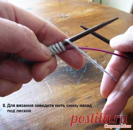 Самый простой способ двухстороннего набора петель спицами - Страна Мам