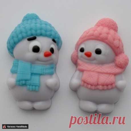 Мыло ручной работы Пара снеговичков купить в Беларуси HandMade