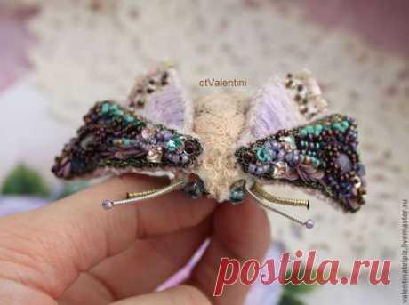 """Купить брошь мотылек """"Рози"""" - розовый, брошь, мотылек, брошь ручной работы, брошь бабочка"""