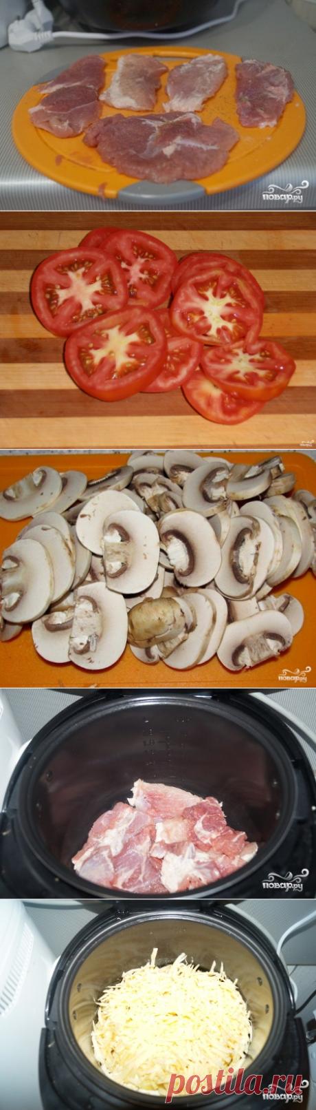 """Мясо по-французски в мультиварке """"Редмонд"""" - пошаговый кулинарный рецепт с фото на Повар.ру"""