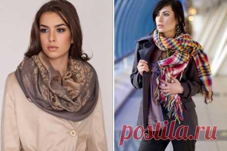 Как красиво завязать палантин на пальто: как подобрать палантин к пальто