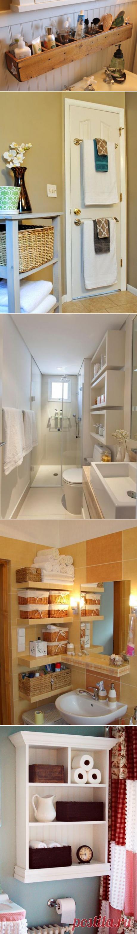 El almacenaje en de baño: 23 ideas abruptas para cualquier espacio