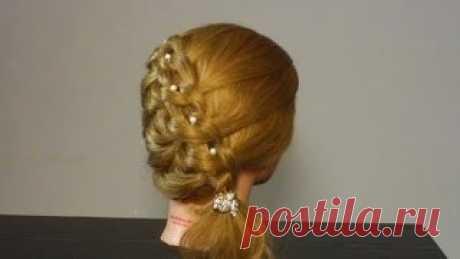 Hammam - Прическа на Новый Год на средние волосы своими руками. Красиво и легко !