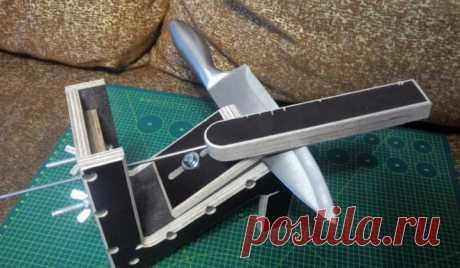 Self-made sharpener for a kitchen knife