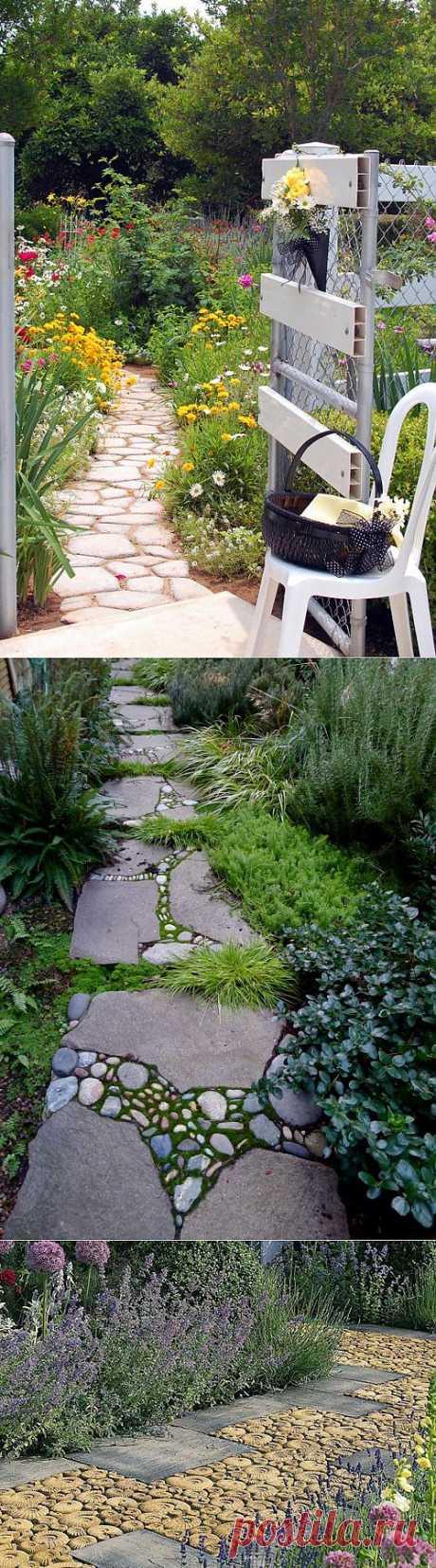 Садовые дорожки. Как создать их своими руками.