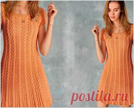 Лёгкие летние платья спицами. Простой фасон и несложный узор | Paradosik_Handmade | Яндекс Дзен