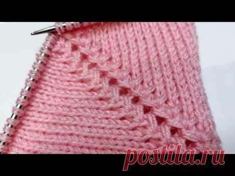 Красивая и простая регланная линия спицами (для вязания регланом сверху)