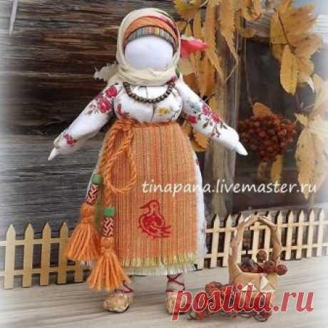 Мастерим из ткани очень красивую народную куклу «Рябинка» — Сделай сам, идеи для творчества - DIY Ideas