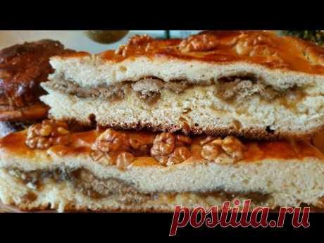 Рождественский пирог с халвой и орехами по-цыгански.Сдобный пирог.Gipsy cuisine.