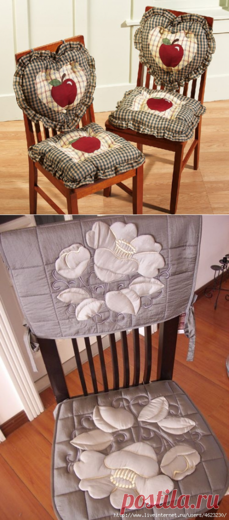 Cozy pillows seat mats from rags — Needlework