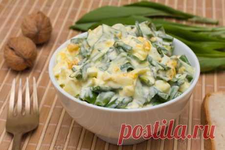 Салат из черемши и яйца — Sloosh – кулинарные рецепты
