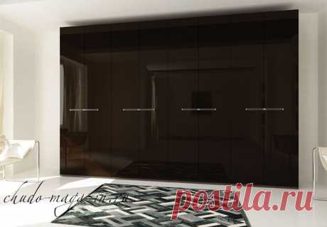 Распашной шкаф глянец шоколад: фото, размеры, МДФ глянец