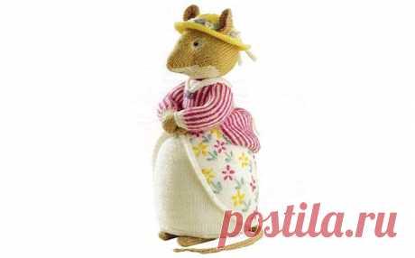 Вязаная спицами  мышка Lady Woodmouse. Описание Вязаная спицами игрушка «Мышка Lady Woodmouse». Описание Автор: Алан Дарт
