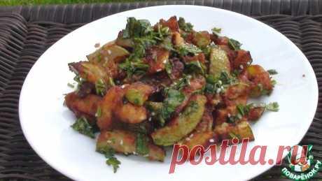 Жареные кабачки со специями Кулинарный рецепт