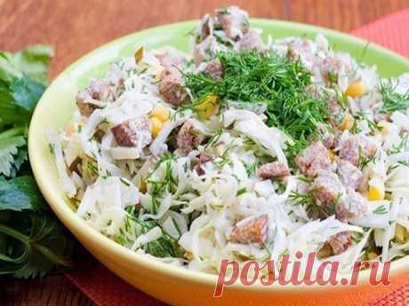 Готовим вкусно - Салат с сухариками